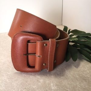 Ruza for Elegant Brown wife leather belt S